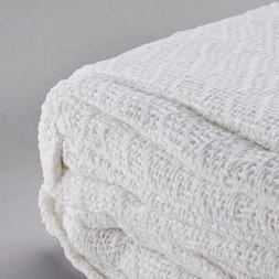 1 new premium throw blanket warm snag free white bleach safe