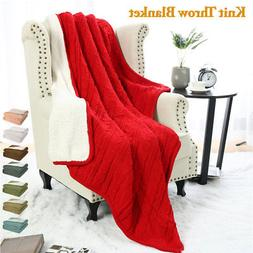100% Cotton Blanket Nap Soft Warm Sofa Bed Home Decor Cable