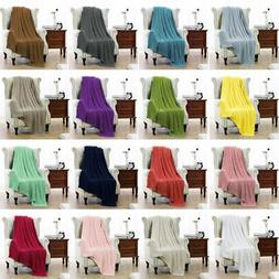 100% Cotton Blanket Soft Warm Cable Knit Throw Home Decorati