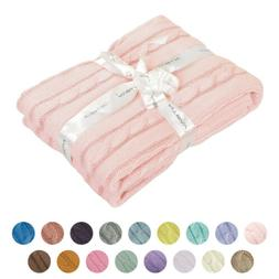 100 percent cotton cable knit toddler throw