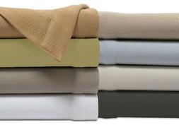 "Bibb Home 100% Cotton Soft Weave  50"" x 60"" All-Season Throw"