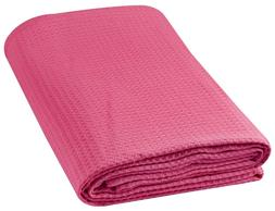 100% Cotton Waffle Weave Thermal Throw Blanket All Weather B