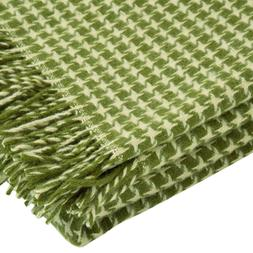 "100% Pure New Wool Throw Blanket with fringe  55x79"" hounds"