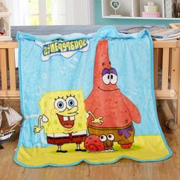 100x140cm SpongeBob Baby Coral Fleece <font><b>Blanket</b></