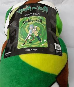 """AdultSwim* Rick And Morty Supersoft PLUSH Throw 48"""" x 60""""-10"""