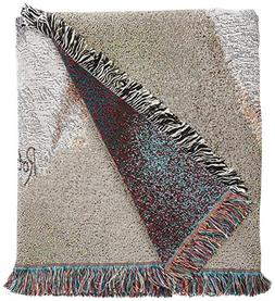Pure Country Weavers - Bulldog Woven Throw Blanket with Frin