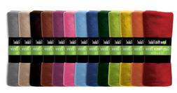 24 Pack Wholesale Warm Soft Fleece Blanket or Throw Blanket