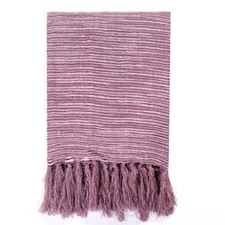 - Battilo Decorative Woven Throw Blanket for Couch