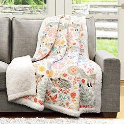 Lush Decor Pixie Fox Fuzzy Reversible Sherpa Throw Blanket -