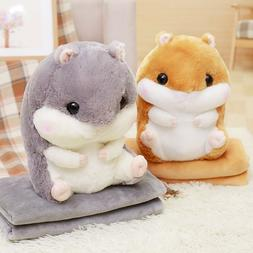2 Size Cartoon Hamster <font><b>Blanket</b></font> Flannel <