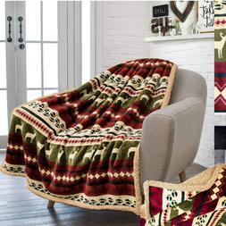 50x60 Premium Throw Blanket Plush Sherpa Microfiber Fleece R