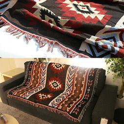 """51x63"""" Aztec Navajo Towel Mat Wall Hanging Cotton Throw Rug"""