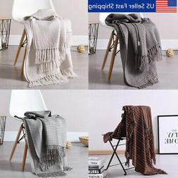 51x63 Soft Knitted Throw Blanket Bed Sofa Couch Decorative F