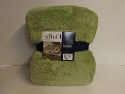 """Berkshire Blanket 60"""" x 70"""" Super Soft Fluffie Throw-Sage-NW"""