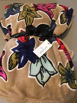 Vera Bradley 80x50 Throw Blanket Falling Flowers New With Ta