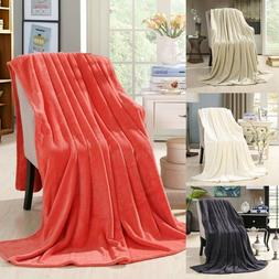 90 by 80-Inch HS Coral Fleece King Size Plush Throw Blanket,