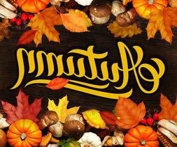 "Autumn Leaves Fleece Throw Blanket 50"" x 60"""