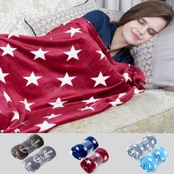 2 Pack Throw Blanket Printed Soft Fleece Lightweight For Sof