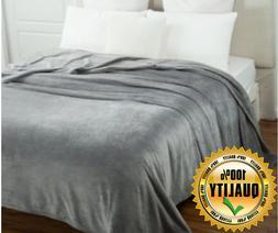 Bedsure Flannel Fleece Luxury Blanket Throw Lightweight Cozy