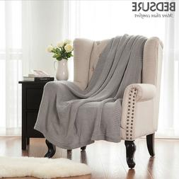 Bedsure Knitted Throw Blanket for Sofa and Couch Lightweight
