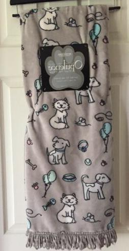 """Berkshire Opulence Plush Pet Throw Blanket 50""""x 60"""" Dogs AND"""