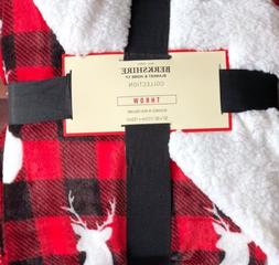 Berkshire Velvet Sherpa Throw/Blanket Soft 50x60 Buffalo Pla