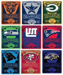 Brand New NFL Teams New Logo Large Soft Fleece Throw Blanket