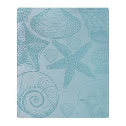 "CafePress - Aqua Shells - Soft Fleece Throw Blanket, 50""x60"""