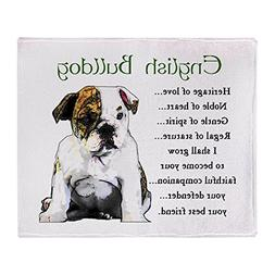 CafePress - English Bulldog - Soft Fleece Throw Blanket, 50""