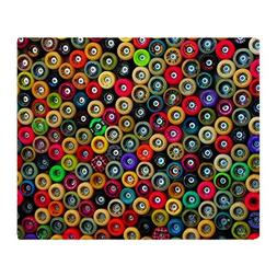 "CafePress Skateboard Wheels Soft Fleece Throw Blanket, 50""x6"