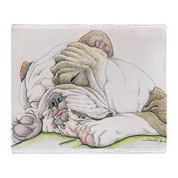 CafePress Sleepy English Bulldog Soft Fleece Throw Blanket,