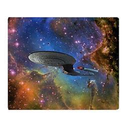 CafePress StarTrek 1701D Eagle Nebula Soft Fleece Throw Blan