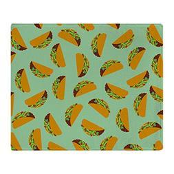"CafePress - Taco Pattern - Soft Fleece Throw Blanket, 50""x60"