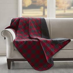 Cozy 100% Cotton Red Gingham Check reverse to Black Quilted