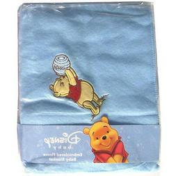 Disney Fleece Baby Infant Throw Blanket Embroidery Winnie Po