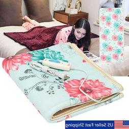 Electric Heated Blanket 220V Throw Floral Cotton Bedroom War