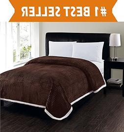 Elegant Comfort Best, Softest, Luxury Micro-Sherpa Blanket o