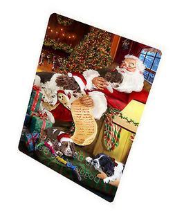 English Springer Spaniel Dog Sleeping with Santa Throw Sherp