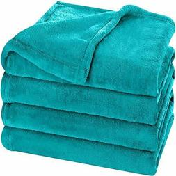 Flannel Fleece Blanket Lightweight Cozy Couch Bed Warm Blank