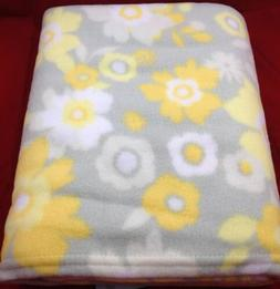 Floral Fleece Throw Blanket - 46x56