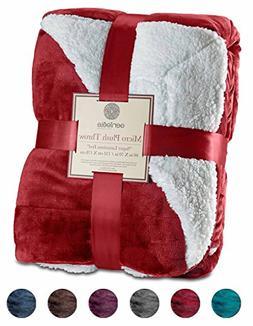 "Genteele Super Soft Luxurious Sherpa Throw Blanket, 50"" X 60"