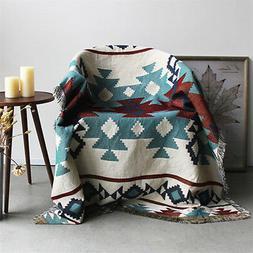 Geometric Tribal Ethnic Aztec Navajo Blanket Throw Rugs Mat