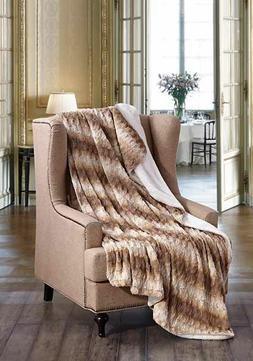 HONEY TWIST Faux Fur Sherpa Luxury Throw Light Weight Blanke