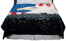 Lavish Home Heavy Thick Plush Mink Blanket, 8-Pound, Eagle