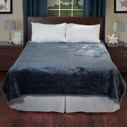 Lavish Home Solid Soft Heavy Thick Plush Mink Blanket 8 poun