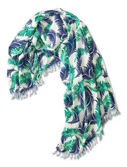 Lucky Brand - NWT $79 - 4X6 - Tropical Palm Printed Gauze Th