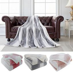 Luxury Micro Plush Blanket Throw Rug in Single & Double & Qu