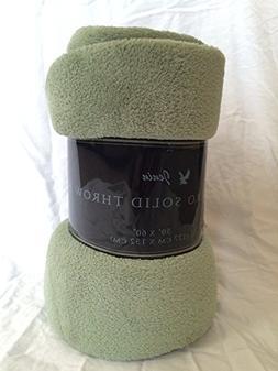 LuxuryDiscounts Warm & Cozy Soft Plush Solid Fleece Throw Bl