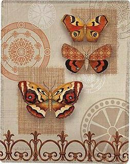 Manual Woodworkers Butterfly Papillon Throw Blanket Artist S