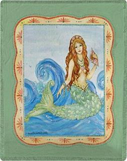 Manual Woodworkers and Weavers Mermaid Dye Throw Blanket Lig